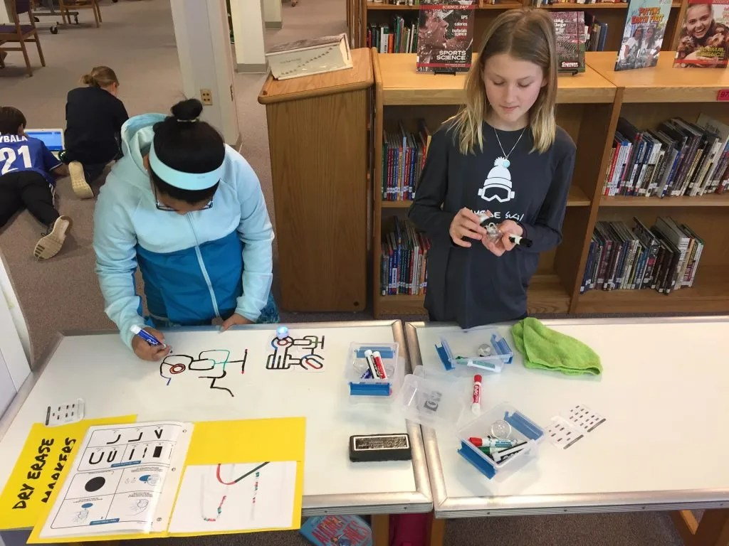 Students are programming, creating and inventing in the maker space.