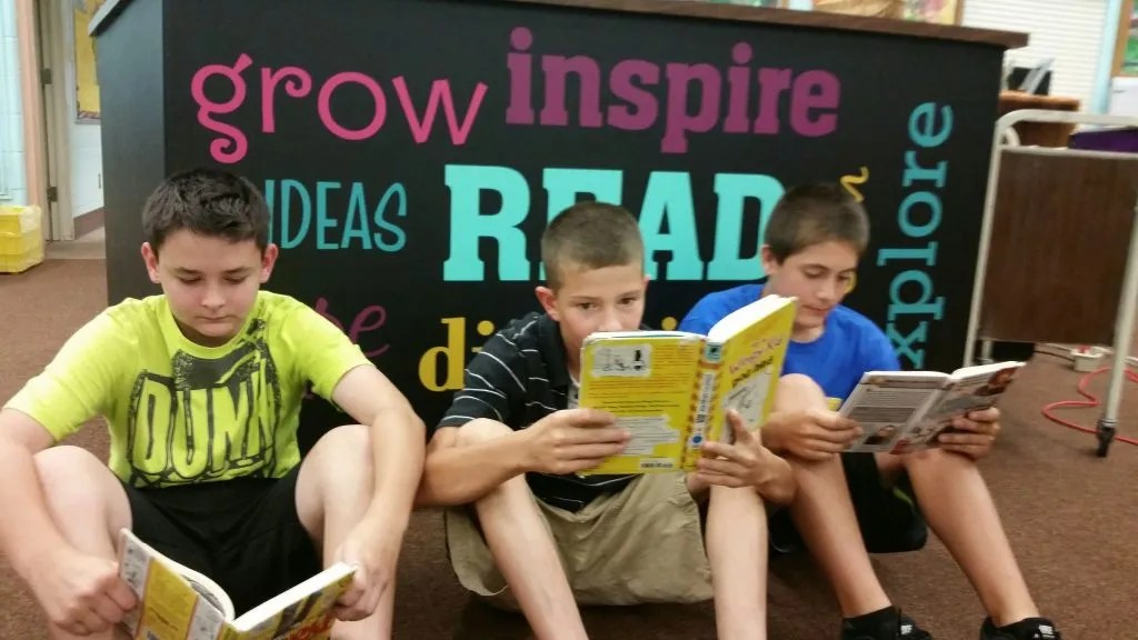 Students are given lots of choices and love to read books about things they love.