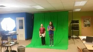 Micki says green screen is one of the most important things for a modern library to have.