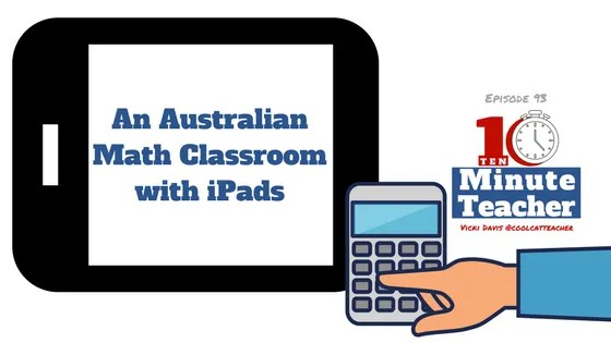 math classroom with ipads