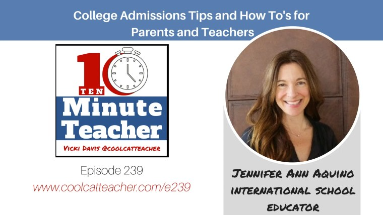 Jennifer ann aquino Us college admissions tips for parents and teachers