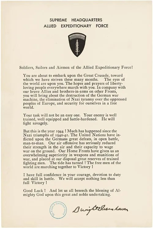 Eisenhower order of the day