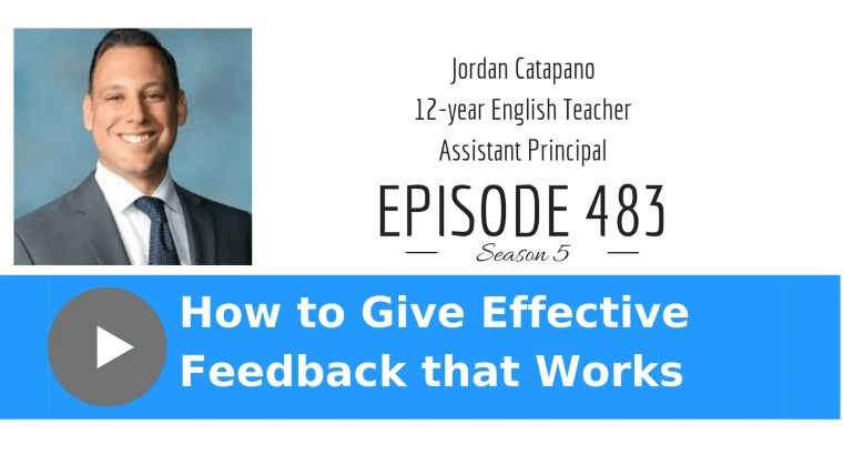 Jordan Catapano effective feedback