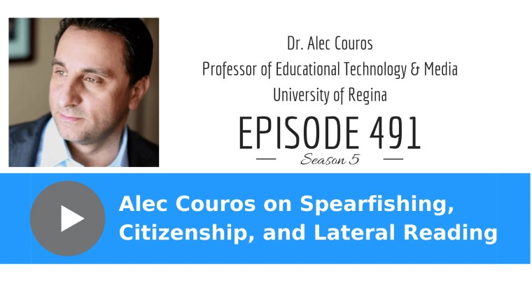 Alec Couros talks about spearfishing, citizenship and lateral reading