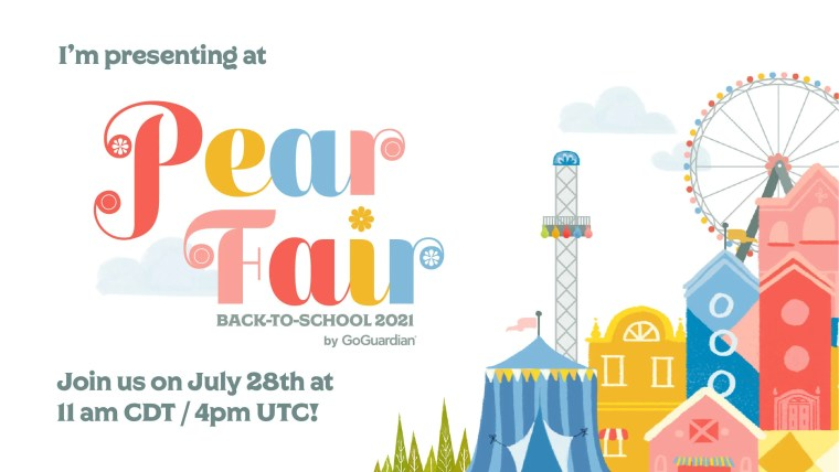 I am presenting at pear fair