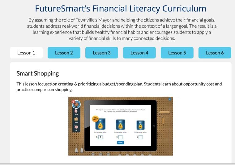 financial literacy curriculum FutureSmart