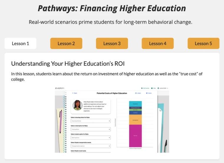 high school financial literacy college