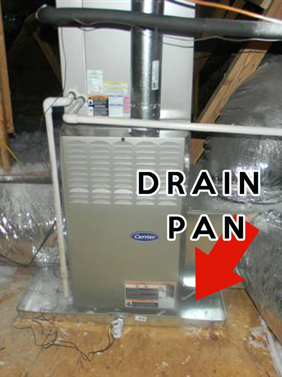 Drain Pan In Attic B