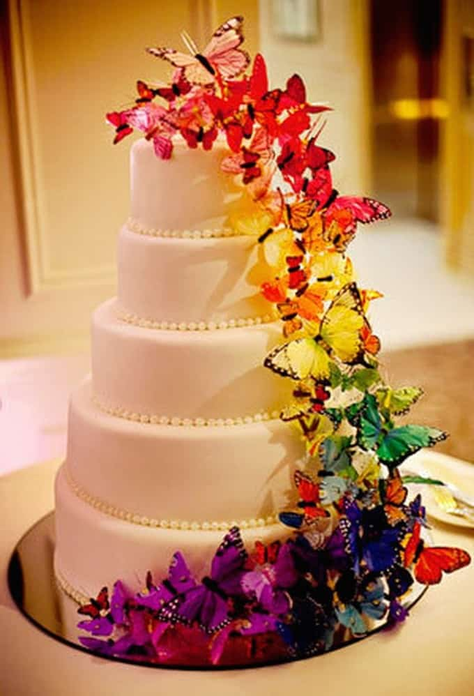 121 Amazing Wedding Cake Ideas You Will Love     Cool Crafts Butterfly Wedding Cake