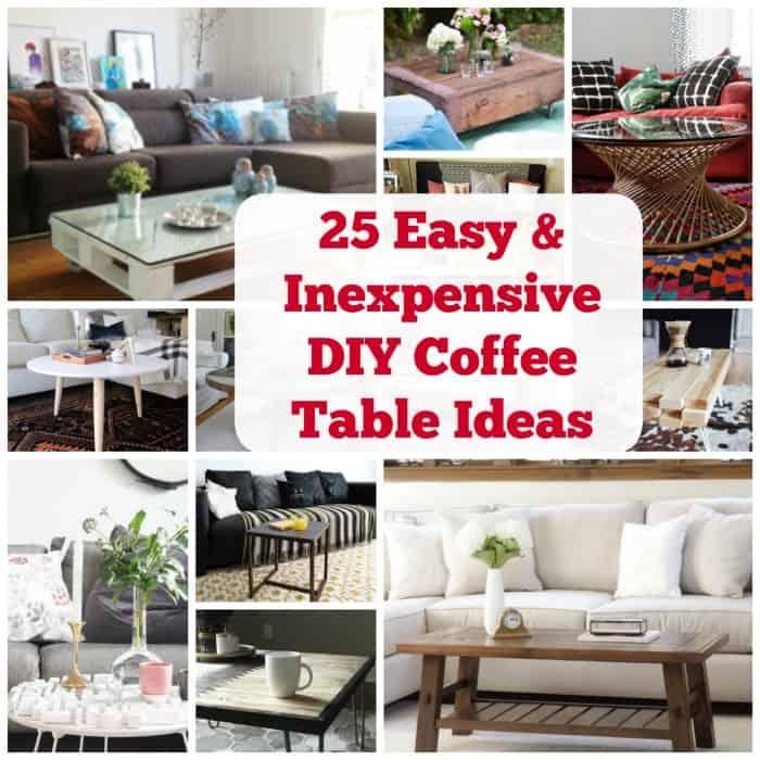 25 diy coffee table ideas