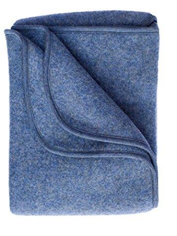 Engel – Babydecke – 100% Schurwolle, blau -
