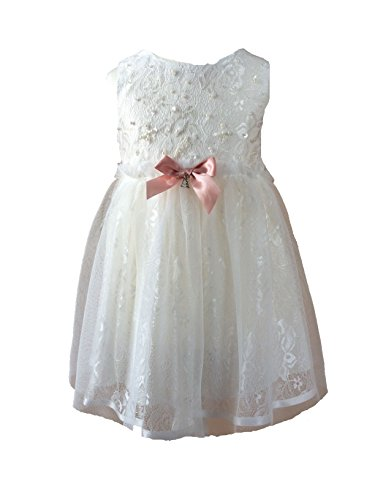 LCG – Taufkleid Festkleid Blumenmädchenkleid – ivory-weiß -