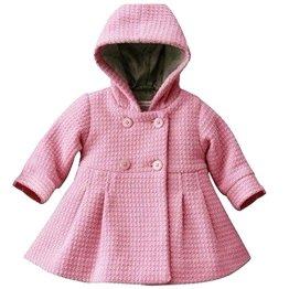 A&M – Baby Mädchen Wintermantel mit Kapuze – rosa