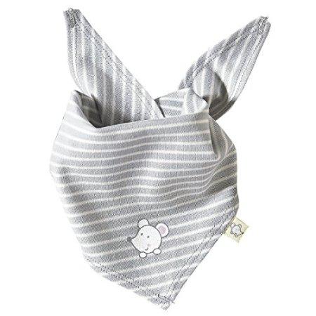 BORNINO – Baby Halstuch Dreieckstuch – grau
