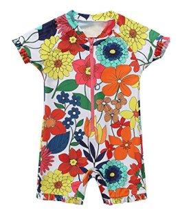 """CharmLeaks – Baby Mädchen Badebekleidung """"Blumen"""" – mehrfarbig"""
