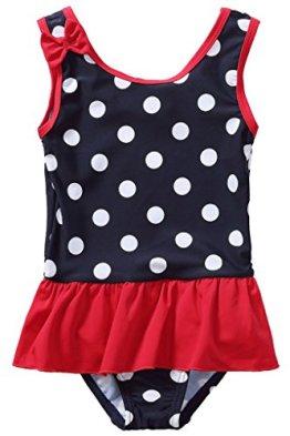 CharmLeaks – Baby Mädchen Badebekleidung Badeanzug – dunkelblau/Punkte