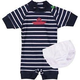 Fred's World by Green Cotton – Baby Jungen Badebekleidung Schwimm Einteiler – blau