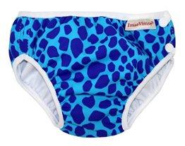 """ImseVimse – Baby Jungen Badebekleidung Schwimmwindel """"Leopard"""" – blau"""