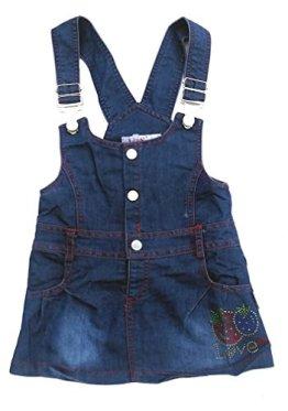 JNS – Baby Mädchen Jeansrock – blau mit pinken Nähten