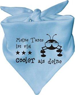"""KLEINER FRATZ – Baby Halstuch """"Meine Tante ist viel cooler als deine"""" – hellblau"""