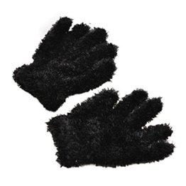 Longra – Baby Strick-Handschuhe aus Baumwolle – schwarz