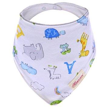 Ateid – Baby Halstuch Dreieckstuch aus Baumwolle – mehrfarbig, 9er Pack -