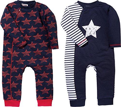 Baby Butt Schlafanzug 2er-Pack Interlock-Jersey Marine//rot Gr/ö/ße 110//116