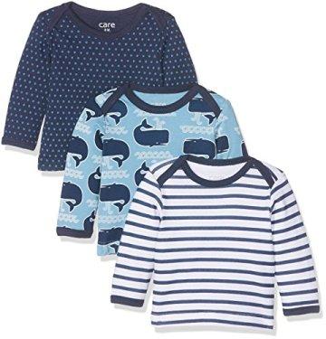 Care – Baby Jungen Langarmshirts – mehrfarbig, 3er Pack -