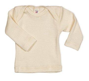 Engel – Baby Unterhemd langarm – 100% Wolle, natur -