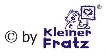"""KLEINER FRATZ – Baby Halstuch """"Meine Tante ist viel cooler als deine"""" – hellblau -"""