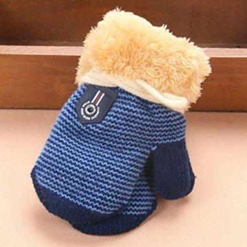 Longra – Baby Handschuhe mit Futter – dunkelblau -