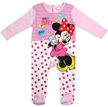 """Minnie Mouse –  Baby Mädchen Strampelanzug """"Disney"""" – rosa -"""