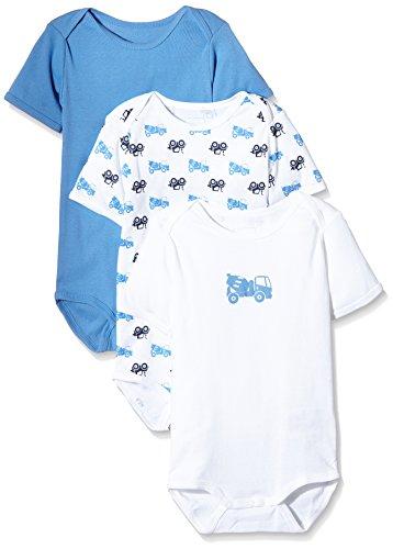 NAME IT – Baby Jungen Body-Schlafanzug – mehrfarbig, 3er Pack -