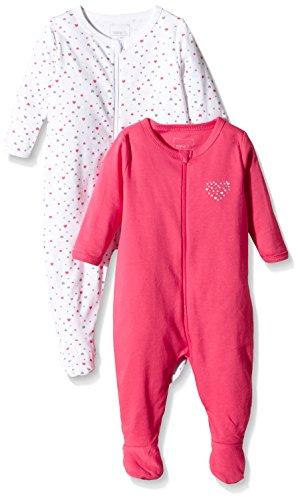 2er Pack NAME IT Baby-M/ädchen Schlafstrampler
