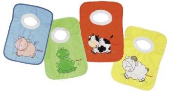 Playshoes – Schlupf Baby Lätzchen – versch. Farben und Motive, 4er Pack -