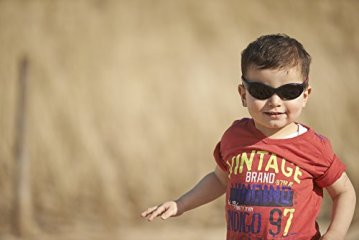 "Real Kids – Baby-Sonnenbrille ""Explorer"" Flexible Passform – rot/schwarz -"