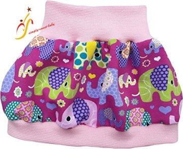 "Simply-sweet-baby – Baby Ballonrock ""bunte Elefanten"" –  rosa Bündchen -"