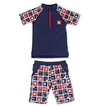 Sterntaler – Baby Jungen Badebekleidung Schwimmanzug – marineblau, 2-teilig -