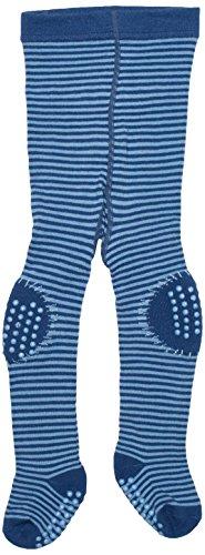 Twins – Baby Jungen ABS Krabbelstrumpfhose 2-fach beschichtet – blau -