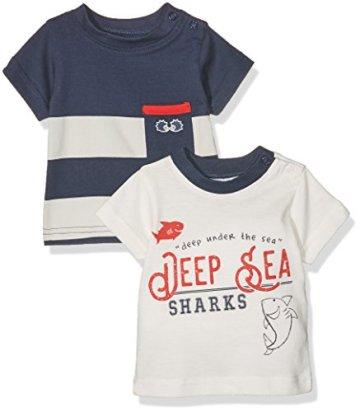 Twins – Baby Jungen T-Shirt – mehrfarbig -
