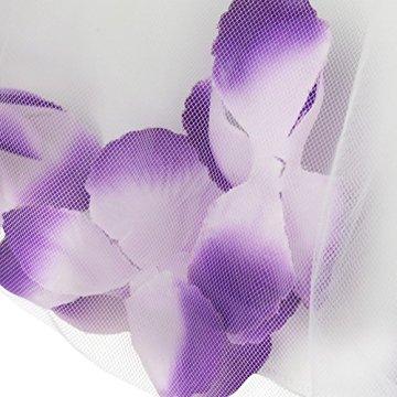 YiZYiF – Baby Mädchen Kleid mit Blütenblättern – lila/weiß -