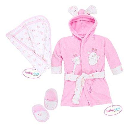 Bebi – Bademantel – pink mit Giraffenmotiv