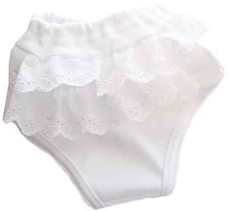 La Partini – Unterhose- weiß/Rüschen -