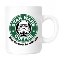 Kaffeebecher Star Wars Tasse, Starbucks-Parodie