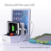 Multi Ladestation für Handys, Tablets - bis zu 4 Geräte gleichzeitig