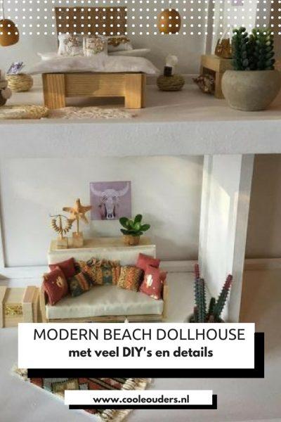 Beach Dollhouse, een binnenkijker in een modern strand poppenhuis ...