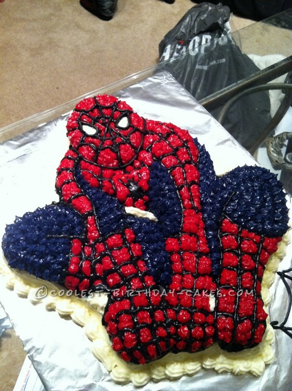 Spider Man Birthday Cake For My 5 Year Old Spiderman