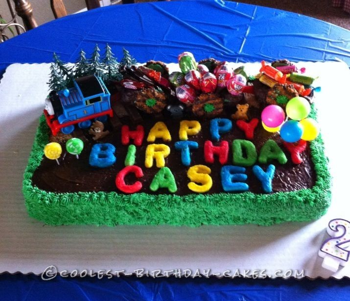 Coolest Birthday Train Cake For 2 Year Old