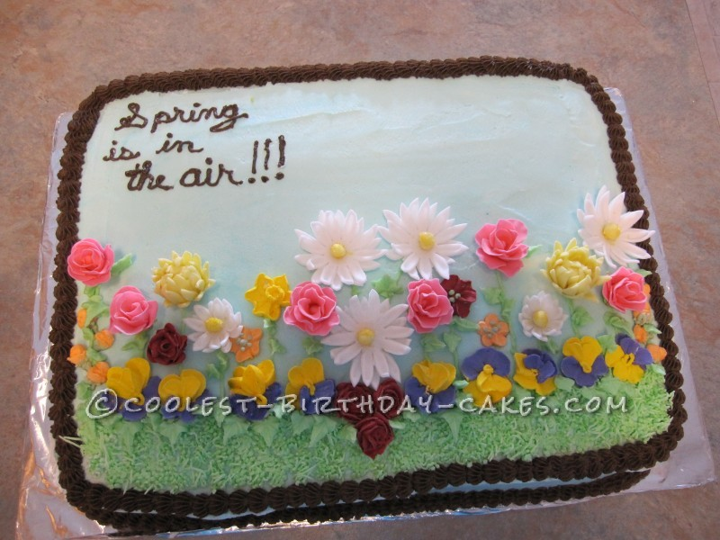 Homemade Spring Flowers Cake That Raised 600