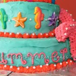 Coolest Seahorses And Starfish Birthday Cake